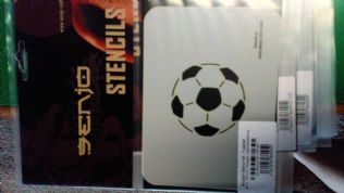 Stencil/Template/Shape Guide  'FOOTBALL'  A6 size  150x115mm was £6 NOW £4.0 inc postage